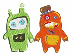 Robots embroidery design