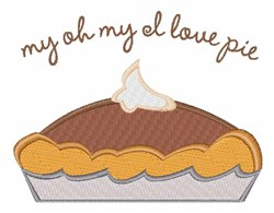 Love Pie embroidery design