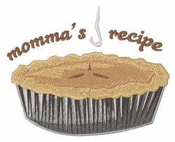 Mommas Recipe embroidery design