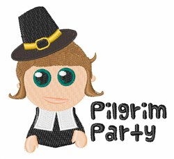 Pilgrim Party embroidery design