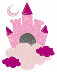 Pink Castle embroidery design