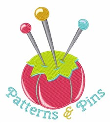 Patterns & Pins embroidery design