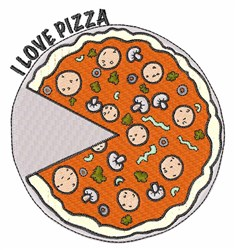 Love Pizza embroidery design
