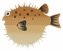 Blow Fish embroidery design