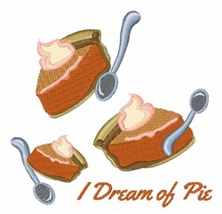 Dream Of Pie embroidery design