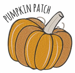 Pumpkin Patch embroidery design