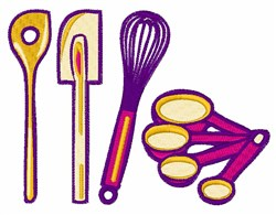 Baking Supplies embroidery design