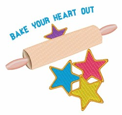 Bake Heart Out embroidery design