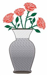 Rose Vase embroidery design