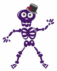 Silly Skeleton embroidery design