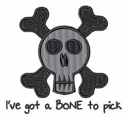 Bone To Pick embroidery design
