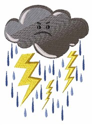 Thunder Storm embroidery design