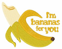 Bananas For You embroidery design