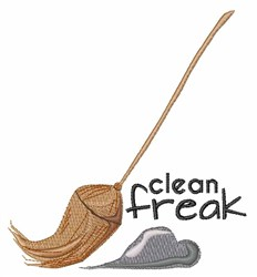 Clean Freak embroidery design