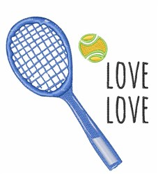 Tennis Score embroidery design