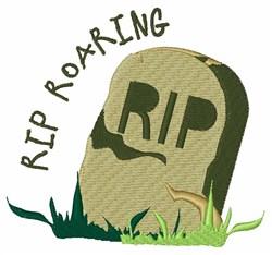 RIP Roaring embroidery design