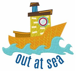 Out At Sea embroidery design