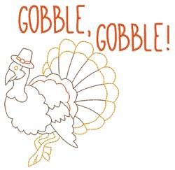Gobble Gobble embroidery design