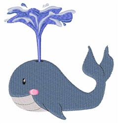 Whale Spout embroidery design
