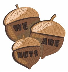 We Are Nuts embroidery design