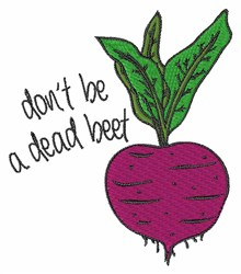 Dead Beet embroidery design