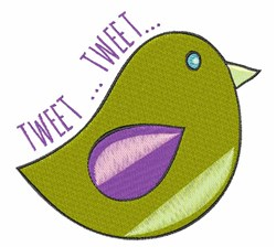 Tweet Tweet embroidery design