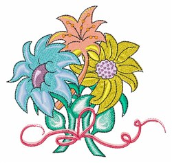 Flower Bouquet embroidery design