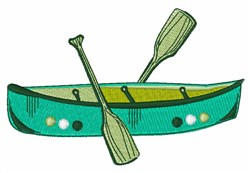 Canoe Boat embroidery design