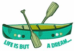 Life Is Dream embroidery design