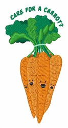 Care For A Carrot embroidery design