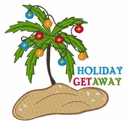 Holiday Get Away embroidery design