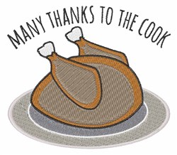 Thanks To Cook embroidery design