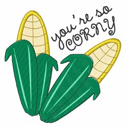 So Corny embroidery design
