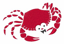 Red Crab embroidery design