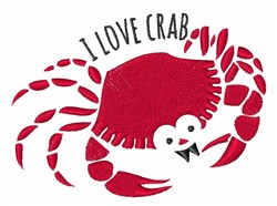 Love Crab embroidery design
