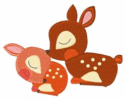 Deer Fawns embroidery design