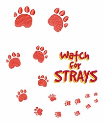 Watch For Strays embroidery design