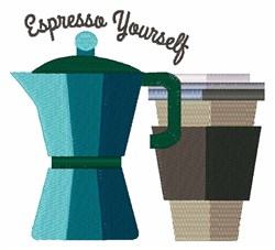 Expresso Yourself embroidery design