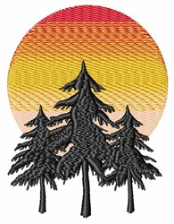 Moon Trees embroidery design