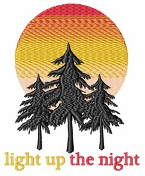 The Night embroidery design