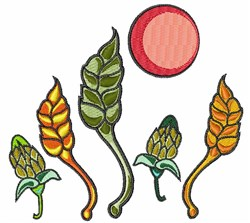 Growing Plants embroidery design