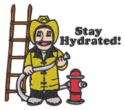 Stay Hydrated! embroidery design