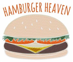 Hamburger Heaven embroidery design