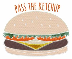 Pass The Ketchup embroidery design