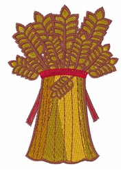 Wheat bundle embroidery design