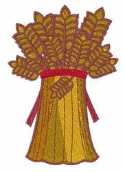 Wheat bundle embroidery design