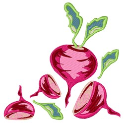 Beets embroidery design