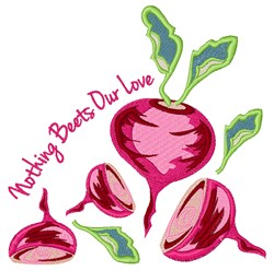 Beets Our Love embroidery design