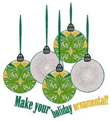 Holiday Ornamental embroidery design