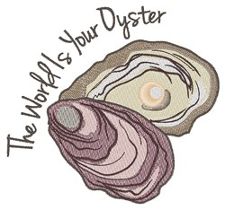 Your Oyster embroidery design